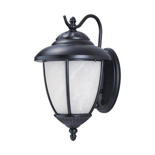 Sea Gull Lighting Yorktown 16 In H Black Medium Base (e 26 In Well Liked Feuerstein Black 16'' H Outdoor Wall Lanterns (View 3 of 15)