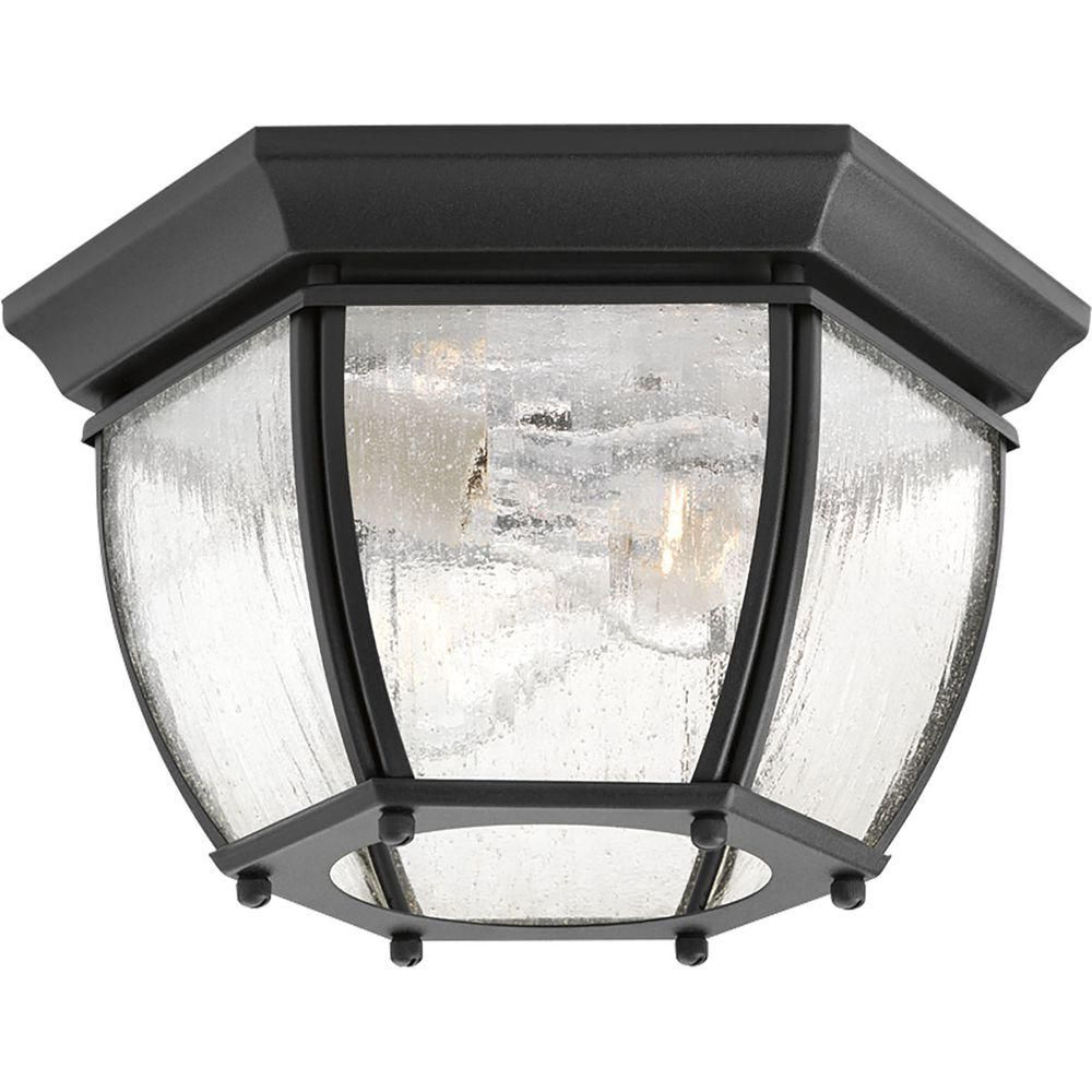 Sheard Textured Black 2 – Bulb Wall Lanterns For Famous Progress Lighting Roman Coach Collection 2 Light Textured (View 15 of 15)