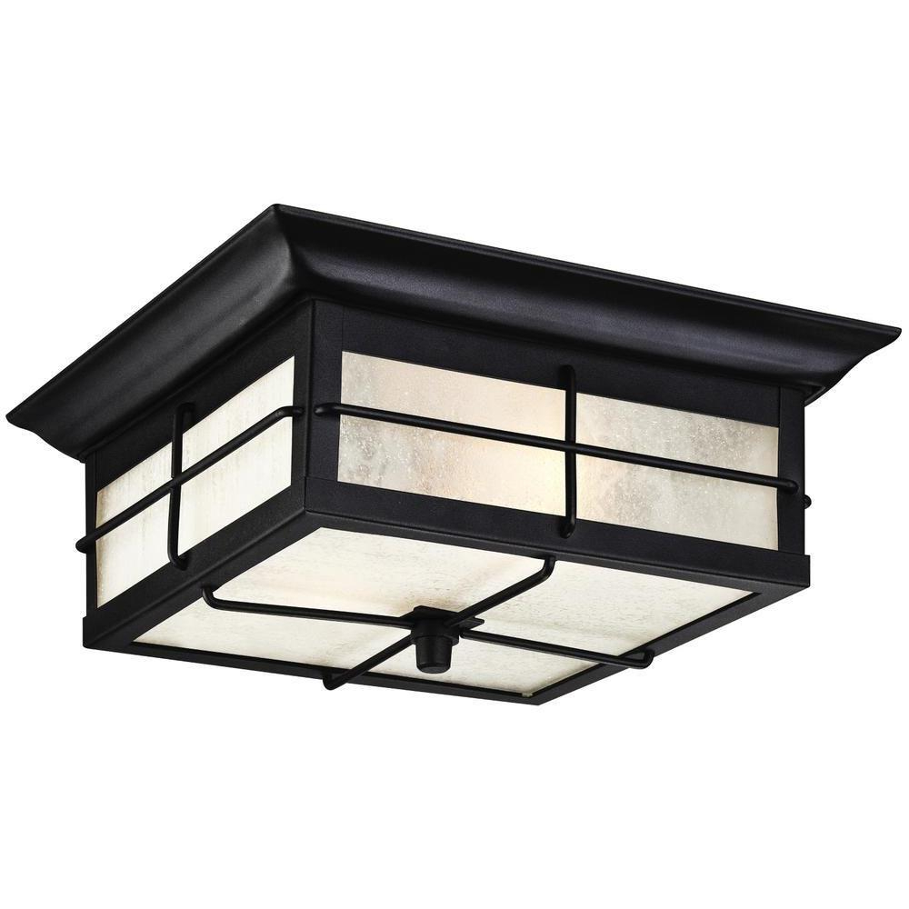 Sheard Textured Black 2 – Bulb Wall Lanterns Inside Popular Westinghouse Orwell 2 Light Textured Black Outdoor (View 7 of 15)