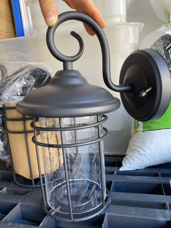 Sheard Textured Black 2 – Bulb Wall Lanterns Throughout Current Micsiu Outdoor Wall Lantern 1 Light 2 Pack Exterior Wall (View 5 of 15)