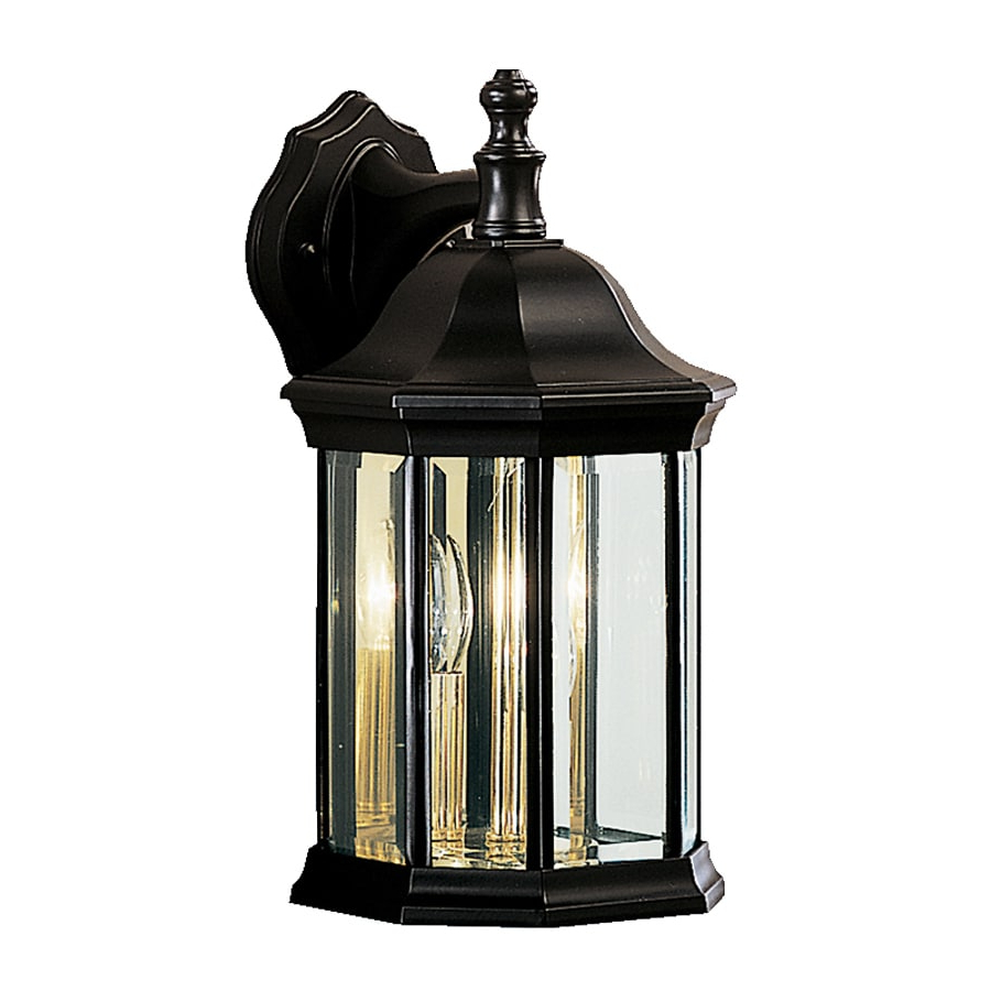 Shop Kichler Chesapeake 14.75 In H Black Outdoor Wall Intended For Current Walland Black  (View 7 of 15)