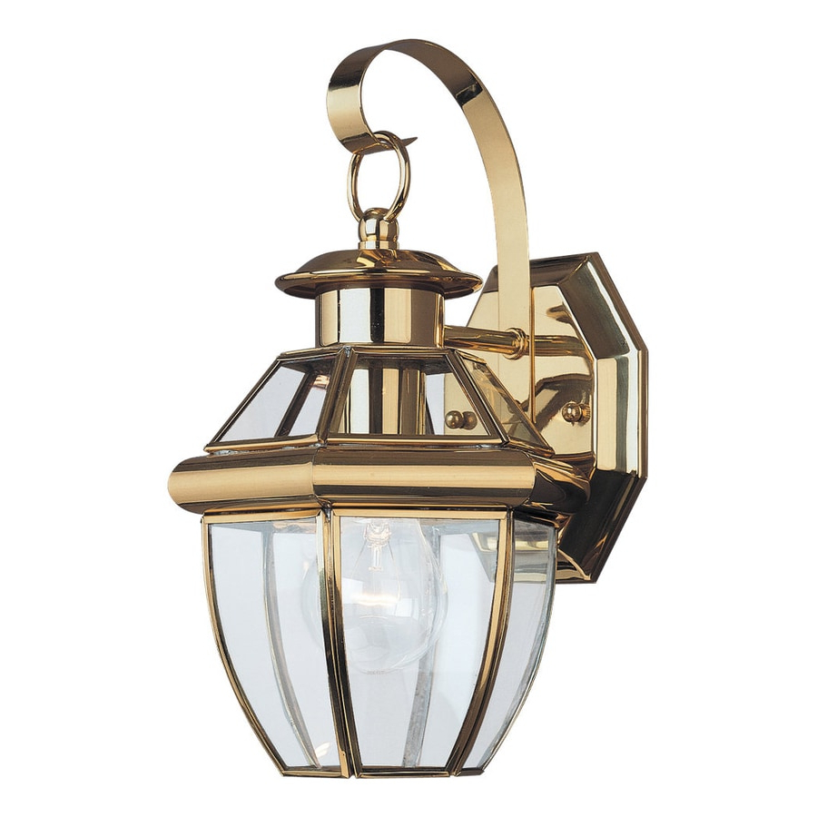 Shop Sea Gull Lighting Lancaster 12 In H Polished Brass Regarding Most Current Turcot 12'' H Wall Lanterns (View 6 of 15)