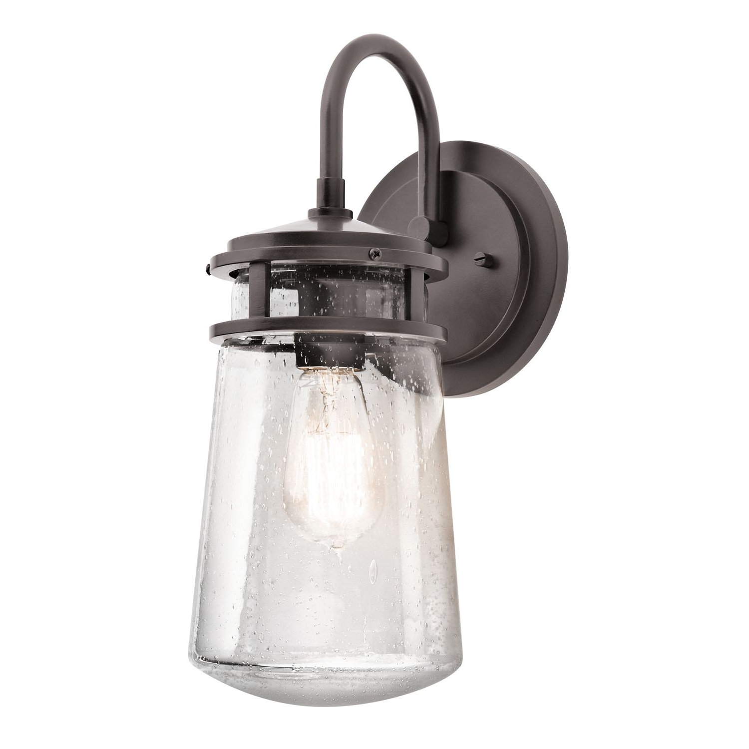 Tangier Dark Bronze Wall Lanterns For Most Up To Date Lyndon Medium Outdoor Wall Lantern In A Bronze Finish With (View 6 of 15)