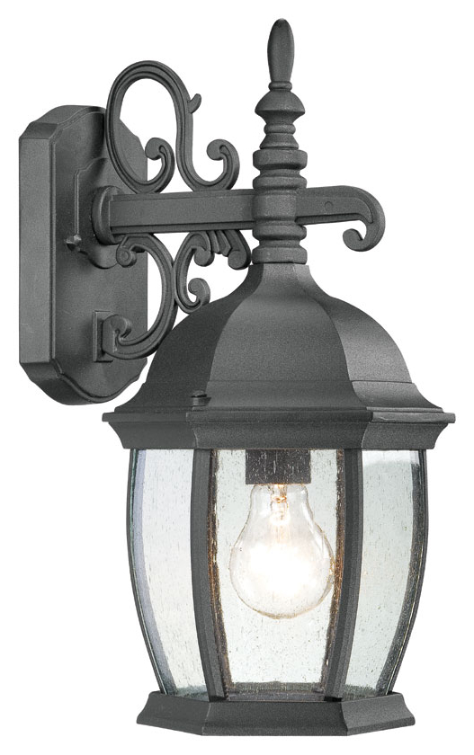 Thomas Lighting Sl92287 Covington Traditional Black Finish Within Most Up To Date Feuerstein Black 16'' H Outdoor Wall Lanterns (View 10 of 15)