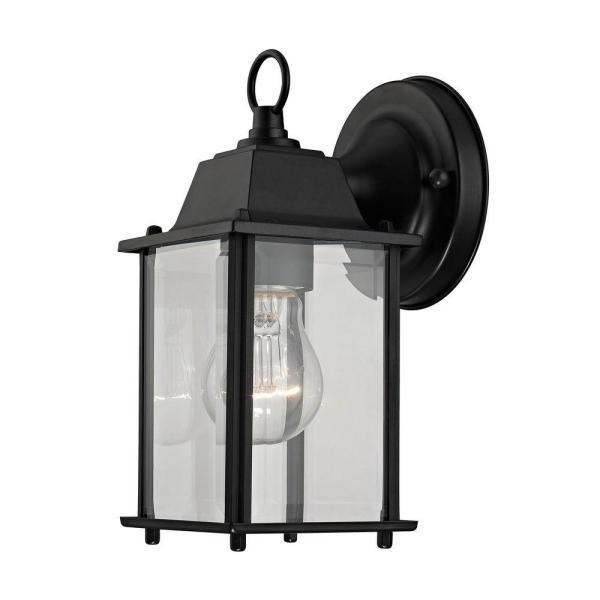 Titan Lighting 1 Light Matte Black Outdoor Wall Lantern Pertaining To Most Popular Black  (View 11 of 15)