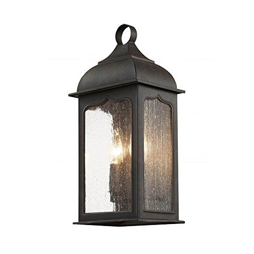 Transglobe Lighting 40230 Rob Outdoor Wall Lantern With Regarding Recent Heinemann Rubbed Bronze Seeded Glass Outdoor Wall Lanterns (View 4 of 15)
