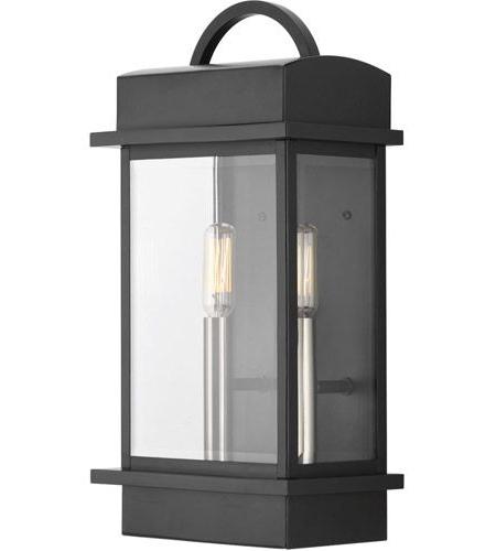 Trendy Bellefield Black 15'' H Outdoor Wall Lanterns Within Santee 2 Light 15 Inch Matte Black Outdoor Wall Lantern (View 12 of 15)