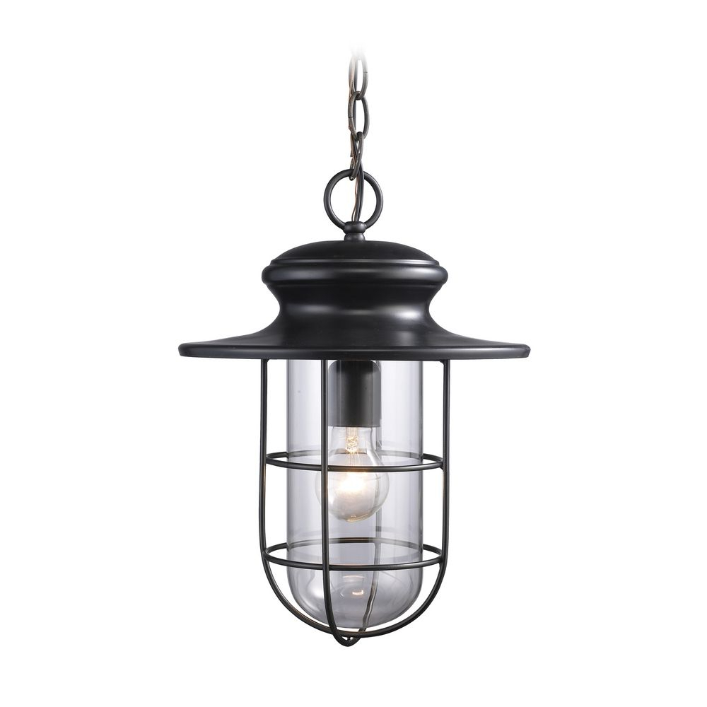 Trendy Keiki Matte Black 11'' H Outdoor Wall Lanterns In Outdoor Hanging Light With Clear Glass In Matte Black (View 5 of 15)