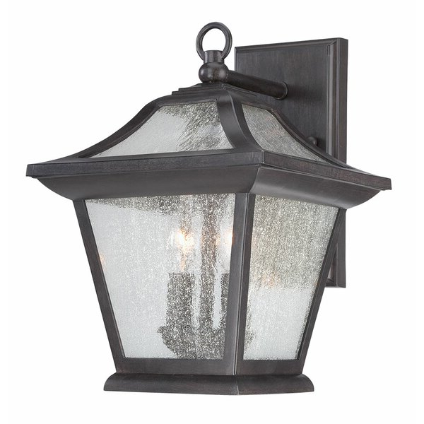 Trendy Robertson 2 – Bulb Seeded Glass Outdoor Wall Lanterns Throughout Winston Porter Vanleer 2 – Bulb  (View 12 of 15)