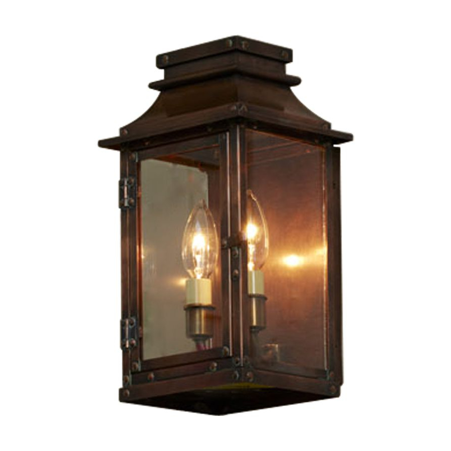 Turcot 12'' H Wall Lanterns For Fashionable Allen + Roth New Vineyard 12 In H Antique Copper Outdoor (View 5 of 15)