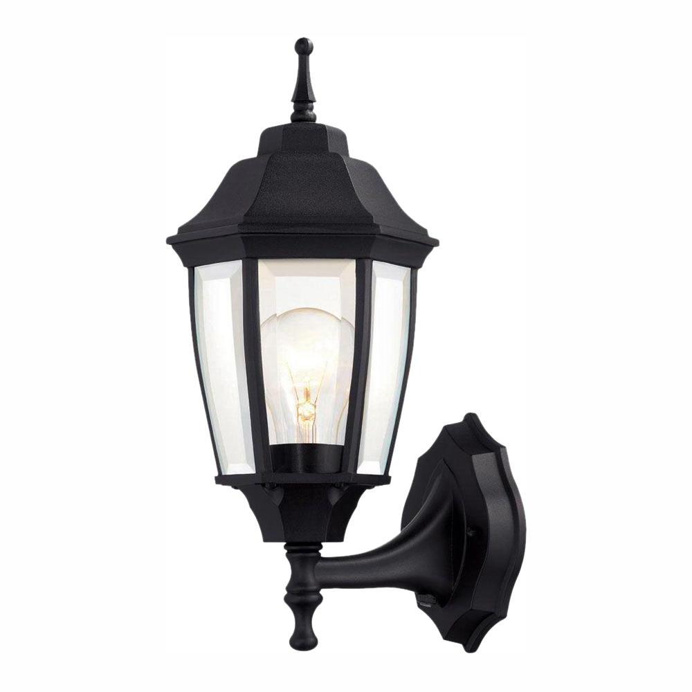 Upc 725916814205 – Hampton Bay 1 Light Black Dusk To Dawn With Regard To Trendy Garneau Black Wall Lanterns (View 7 of 15)