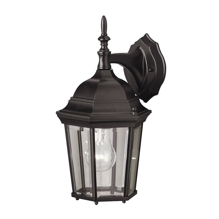 Walland Black 14.75'' H Outdoor Wall Lanterns In Favorite Shop Kichler Madison  (View 8 of 15)
