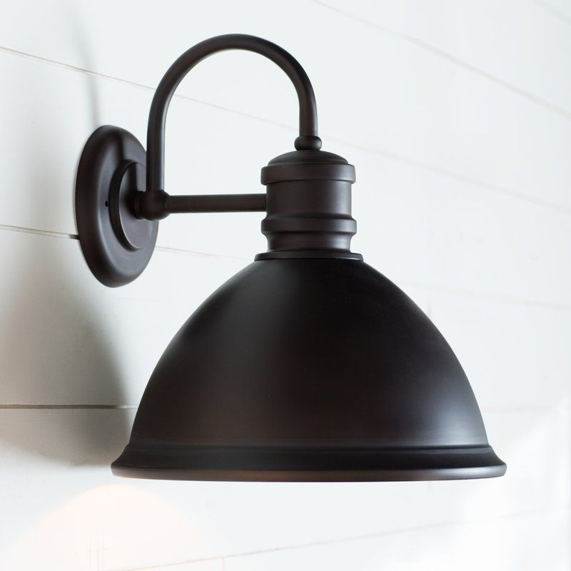 Well Known Birch Lane™ Heritage Windham Outdoor Barn Light & Reviews Throughout Ranbir Oil Burnished Bronze Outdoor Barn Lights With Dusk To Dawn (View 12 of 15)