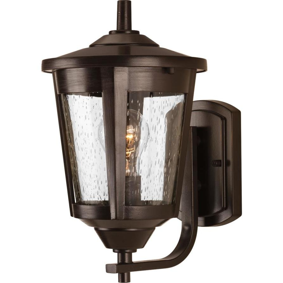 Well Known Chelston 12'' H Seeded Glass Outdoor Wall Lanterns Within Shop Progress Lighting East Haven  (View 1 of 15)