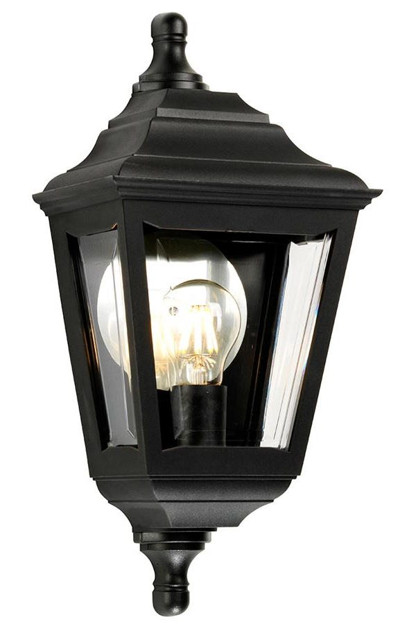 Well Known Ciotti Black Outdoor Wall Lanterns Within Elstead Kerry Corrosion Proof Flush Outdoor Wall Lantern Black (View 5 of 15)