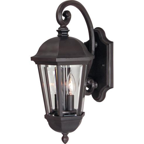 Featured Photo of Faunce 12'' H Beveled Glass Outdoor Wall Lanterns