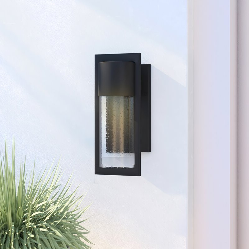 Well Known Dedmon Outdoor Armed Sconces With Regard To Wade Logan® Lutterworth Black Outdoor Armed Sconce (View 15 of 15)
