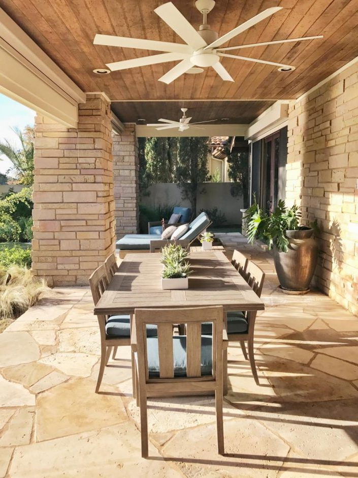 Well Known Design Ideas: Terrace With Ceiling Fans And Table (View 13 of 15)