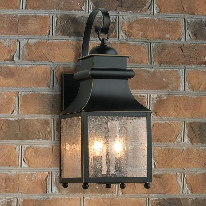 Well Known Homesteader Seeded Glass Outdoor Wall Lantern – 2 Light Pertaining To Robertson 2 – Bulb Seeded Glass Outdoor Wall Lanterns (View 5 of 15)