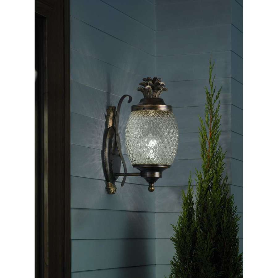 Well Known Jordy Oil Rubbed Bronze 15.25'' H Outdoor Wall Lanterns Inside Shop Portfolio  (View 12 of 15)