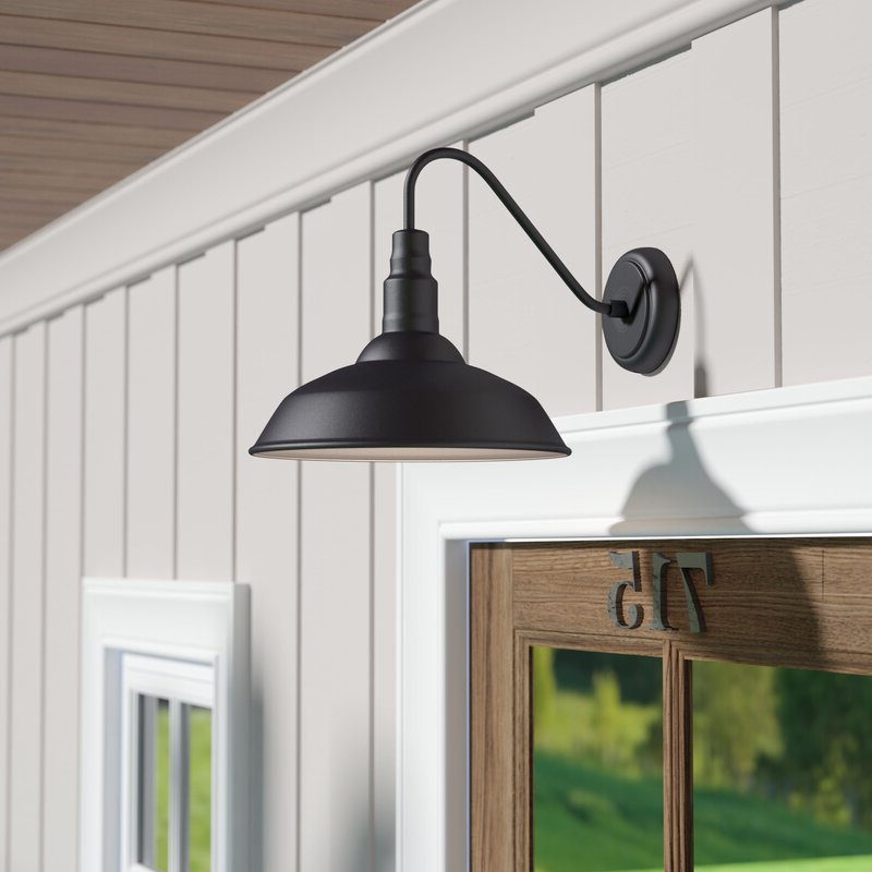 Well Known Laurel Foundry Modern Farmhouse Aurelia 1 Light Outdoor With Regard To Lainey 13'' H Outdoor Barn Lights (View 9 of 15)