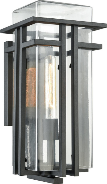 Well Known Mccay Matte Black Outdoor Wall Lanterns Pertaining To Croftwell 1 Light Outdoor Wall Sconce, Textured Matte (View 13 of 15)