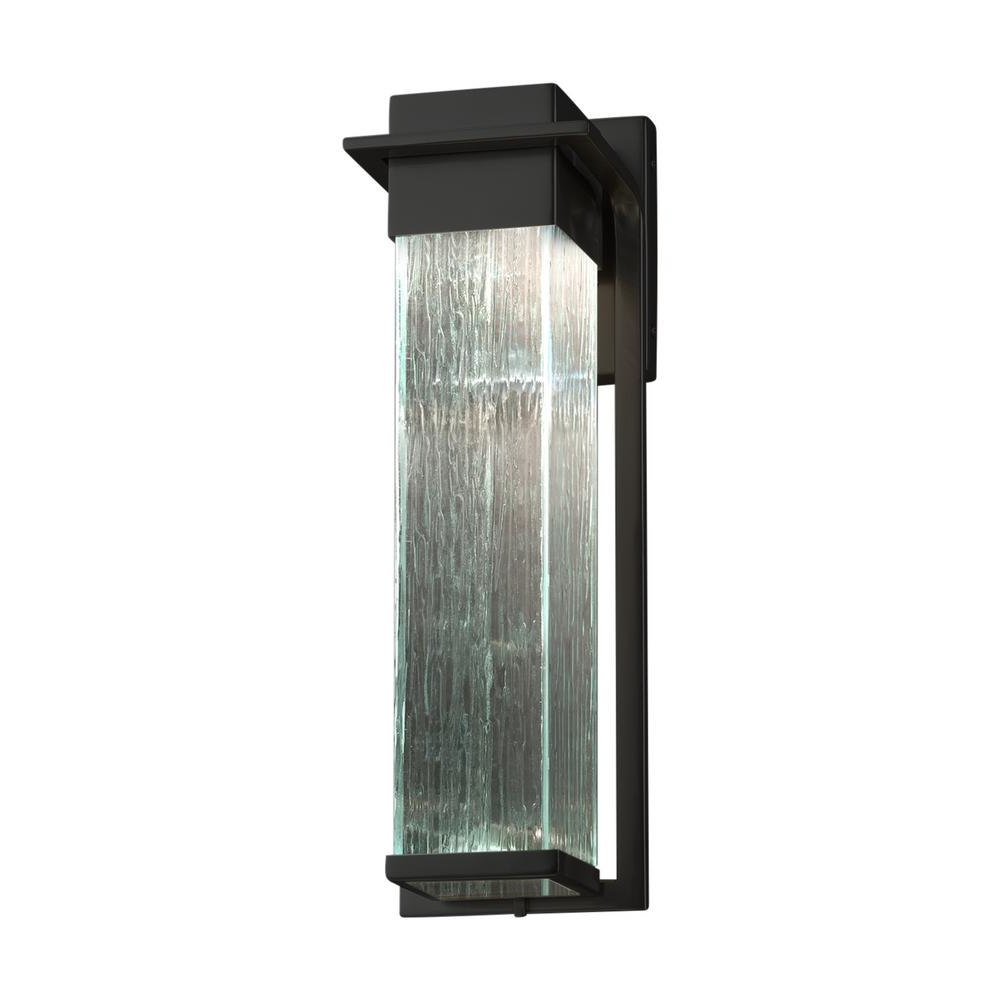 Well Known Mccay Matte Black Outdoor Wall Lanterns With Justice Design Fusion Pacific Matte Black Led Outdoor Wall (View 9 of 15)