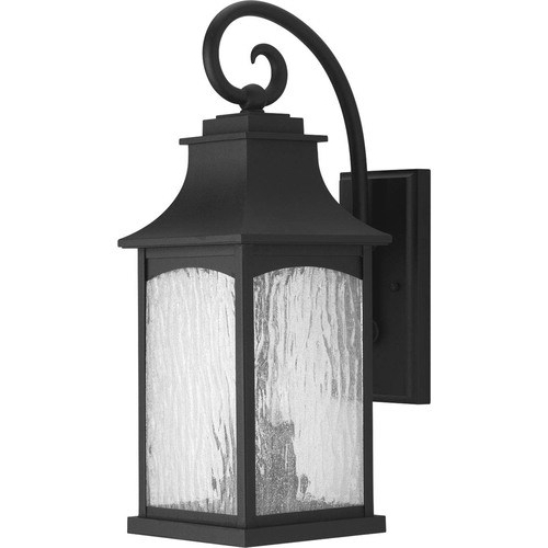 Well Known Progress Lighting Maison 20 In H Black Candelabra Base (e With Chelston 12'' H Seeded Glass Outdoor Wall Lanterns (View 12 of 15)