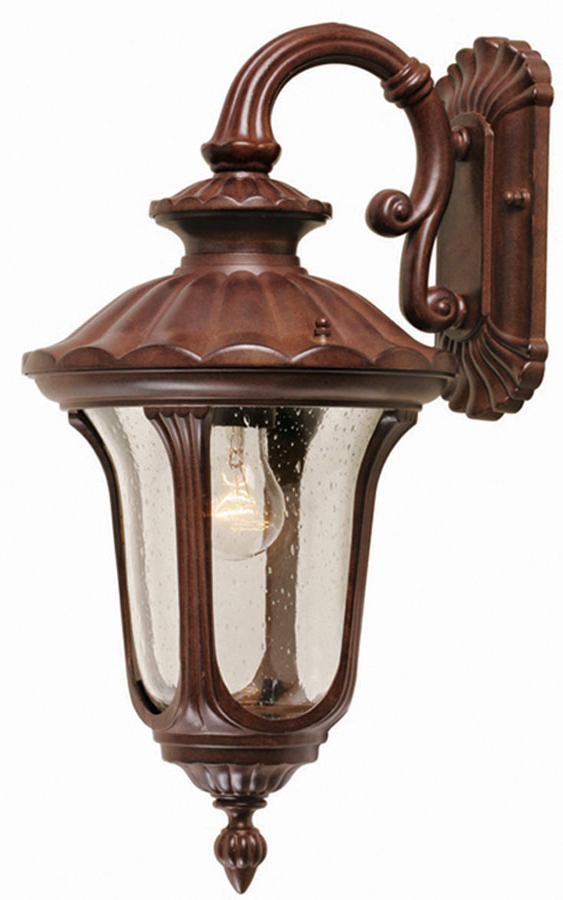 Well Known Tangier Dark Bronze Wall Lanterns Within Elstead Chicago Rust Bronze Small Outdoor Wall Lantern Cc2/s (View 4 of 15)