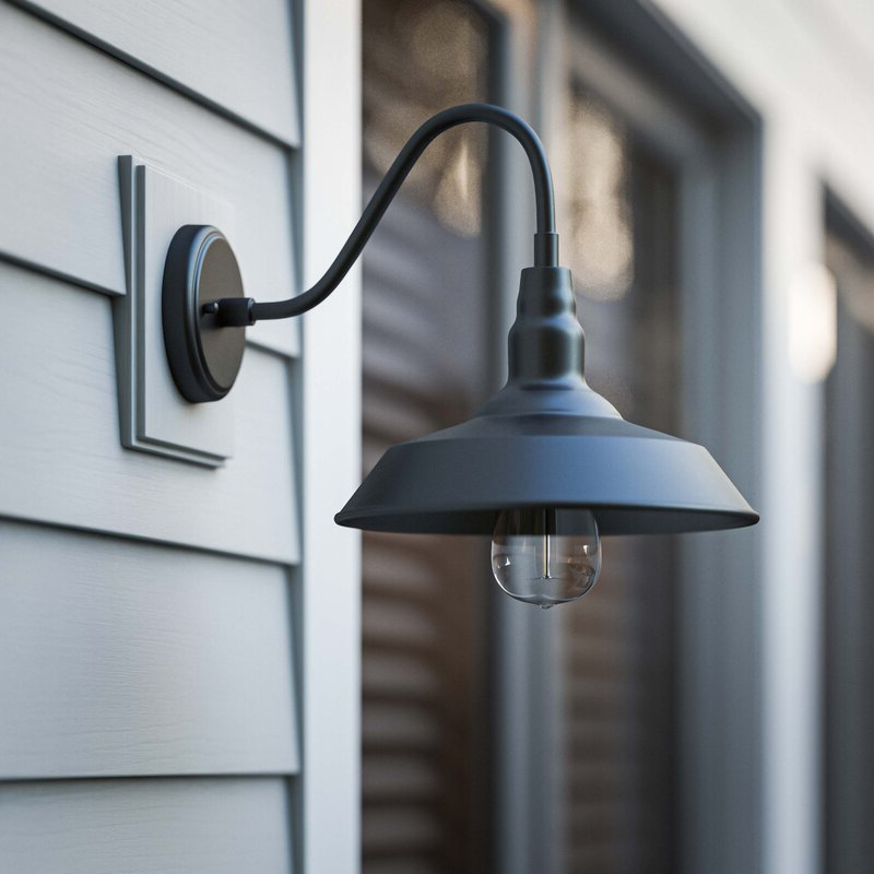 Well Liked Aleena 9.88'' H Outdoor Barn Lights Pertaining To Laurel Foundry Modern Farmhouse Aurelia  (View 5 of 15)
