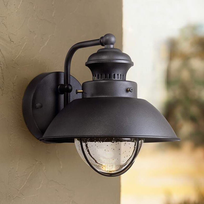 """Well Liked Fordham 8"""" High Black Led Outdoor Wall Light – #5c013 Within Bellefield Black 15'' H Outdoor Wall Lanterns (View 5 of 15)"""