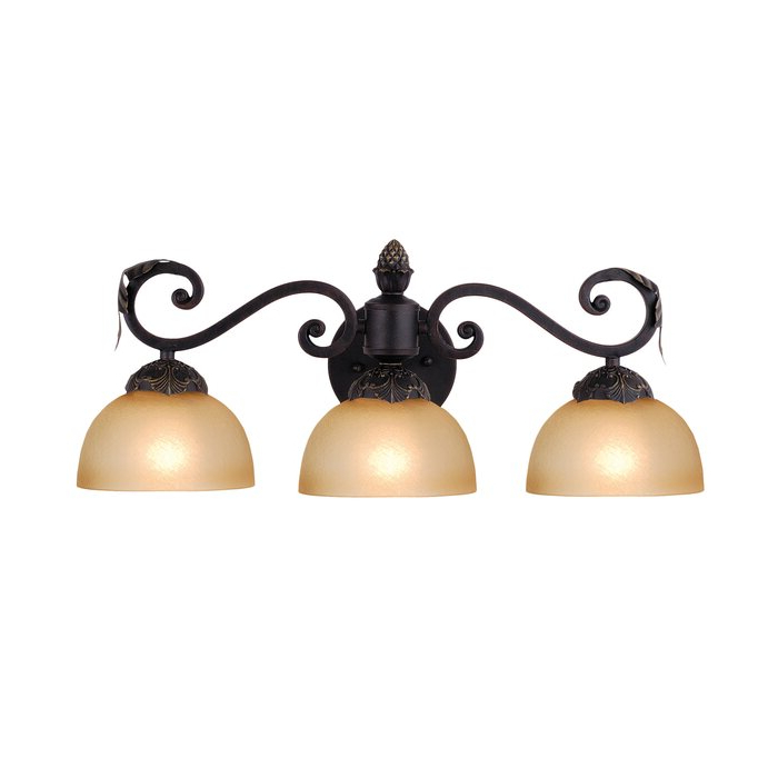 Well Liked Meyda Tiffany 3 – Light Mahogany Bronze Armed Sconce With Cantrall 8'' H Outdoor Armed Sconces (View 7 of 15)