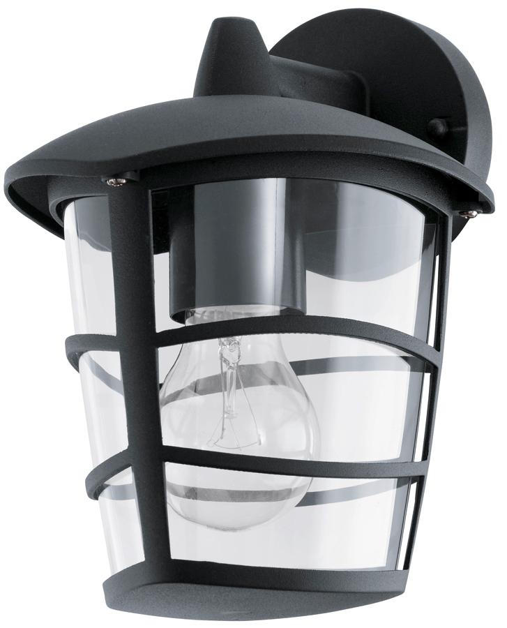 Well Liked Modern Black Downward Lantern Outdoor Wall Lantern 93098 With Regard To Heitman Black Wall Lanterns (View 15 of 15)