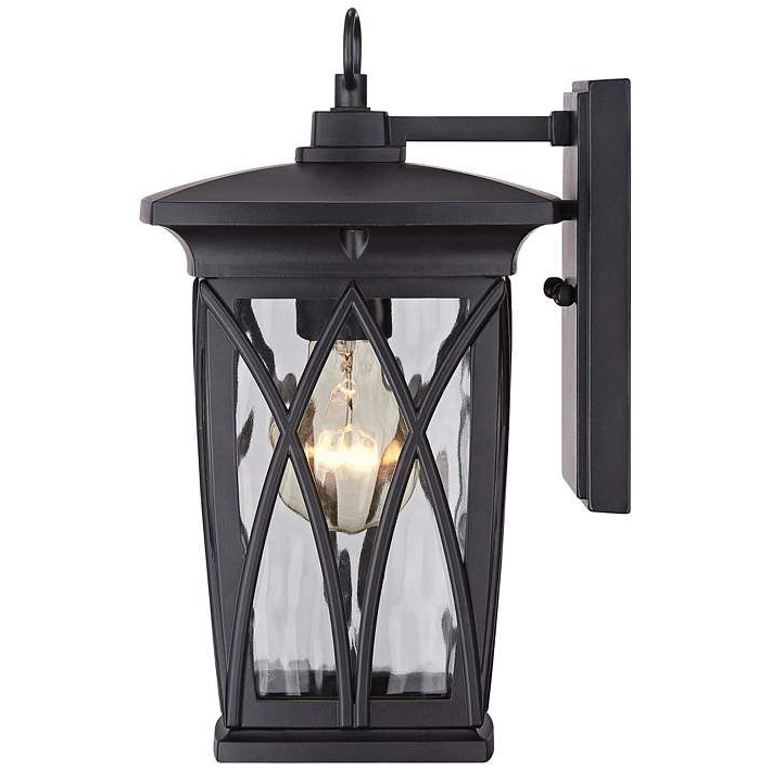 """Well Liked Quoizel Grover 11"""" High Mystic Black Outdoor Wall Light Pertaining To Rockmeade Black 11'' H Outdoor Wall Lanterns (View 6 of 15)"""