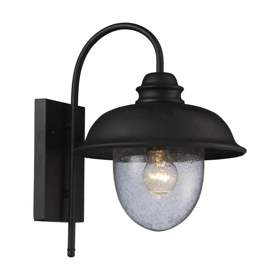 Westmore Lighting Brier 15 In H Matte Black Medium Base (e With Latest Armanno Matte Black Wall Lanterns (View 10 of 15)