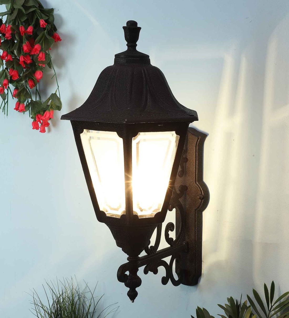 Widely Used Buy Black Aluminium Outdoor Wall Lightsuperscape Inside Clarence Black 10'' H Outdoor Wall Lanterns (View 5 of 15)