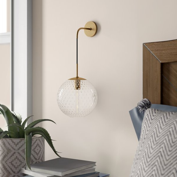 Widely Used Cantrall 8'' H Outdoor Armed Sconces Intended For Mistana™ Marcellus 1 – Light Dimmable Armed Sconce (View 6 of 15)