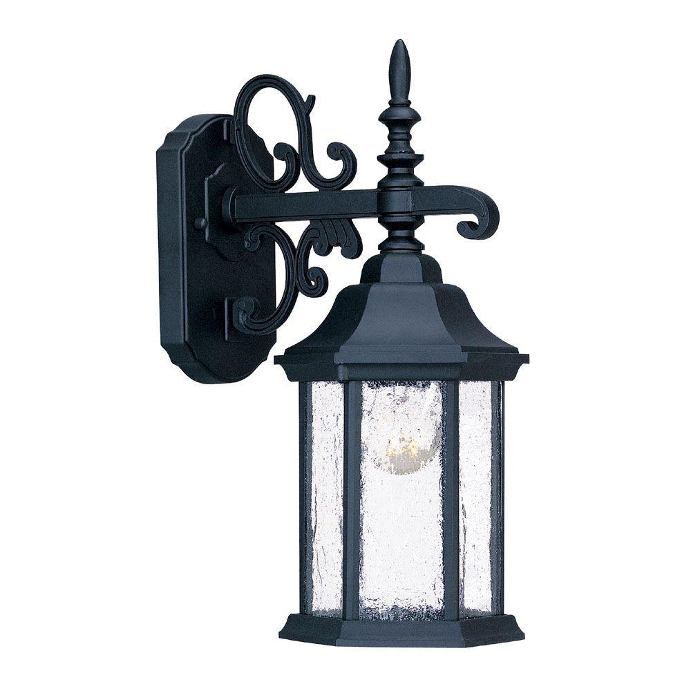 Widely Used Mccay Matte Black Outdoor Wall Lanterns Regarding Acclaim Lighting Madison Collection 1 Light Matte Black (View 10 of 15)