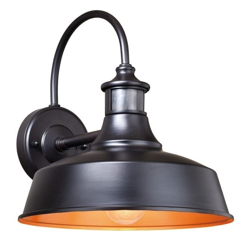 Widely Used Ranbir Oil Burnished Bronze Outdoor Barn Lights With Dusk To Dawn Pertaining To Dorado Bronze Motion Sensor Dusk To Dawn Farmhouse Barn (View 4 of 15)