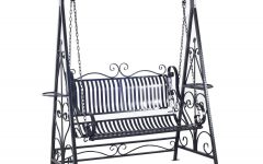 1-person Antique Black Iron Outdoor Swings