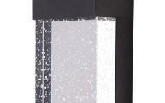 Ketner Matte Black 14.78'' H Integrated Led Seeded Glass Outdoor Flush Mount