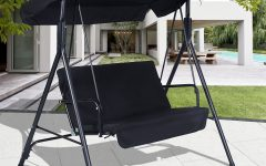2-person Gray Steel Outdoor Swings