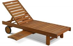 Havenside Home Ormond Outdoor Hardwood Sun Loungers With Tray