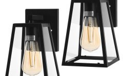 Rockefeller Black 2 – Bulb 7.9'' H Outdoor Wall Lanterns