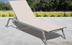 Adjustable Sling Fabric Patio Chaise Lounges