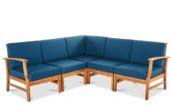 Antonia Teak Patio Sectionals with Cushions