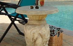 Patio Umbrella Stand Side Tables