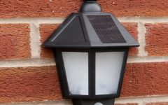 Pir Solar Outdoor Wall Lights