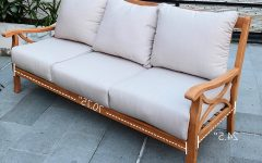 Brunswick Teak Patio Sofas with Cushions
