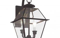 Gillian Beveled Glass Outdoor Wall Lanterns